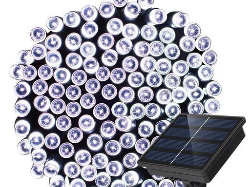 Guirnalda de 100 luces led solares - Blanco