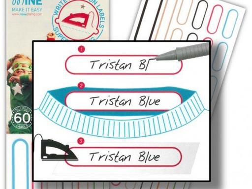 Etiquetas para ropa escribir y planchar