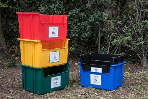 Kit de contenedores para reciclaje