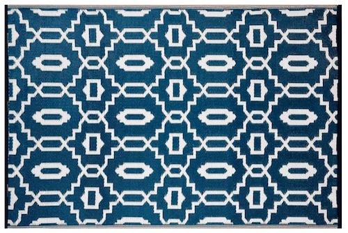 Alfombra PET moderna azul marino 150 x 240