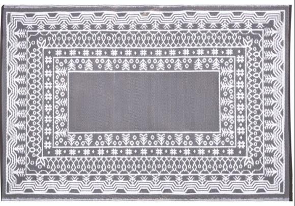 Alfombra PET modelo Fresco gris con blanco 120 x 180