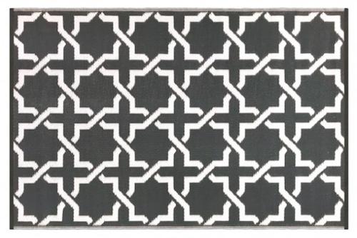Alfombra PET Serene gris oscuro con blanco 150 x 240 cm.