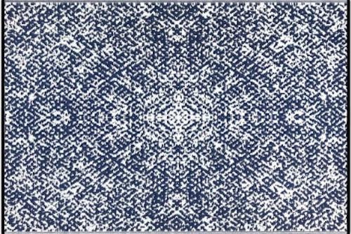 Alfombra PET Rio azul con blanco 180 x 270 cm
