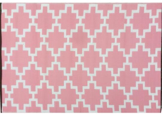 Alfombra PET modelo soltitud rosado con blanco 120 x 180