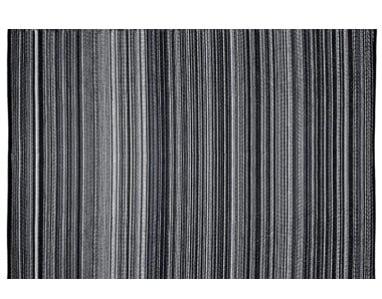 Alfombra PET negro con blanco modelo Weaver de 180 x 270  - Alfombra exterior weaver negra con blanco.jpg