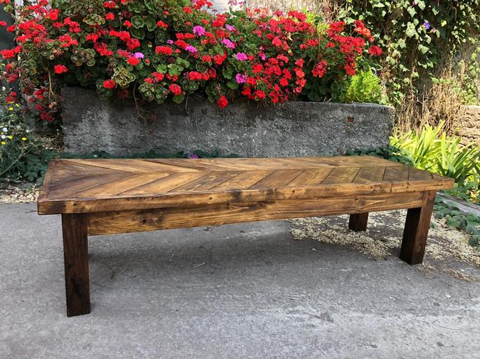 Mesa de madera de pallets modelo Zig Zag - mesa de centro de madera de pallets modelo zigzag.jpeg