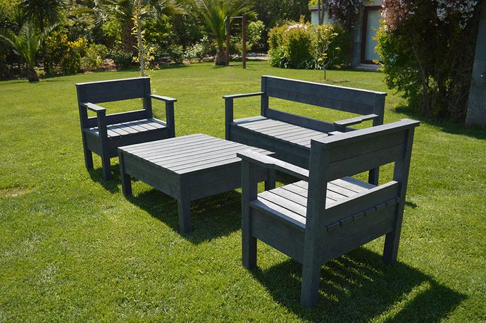 Mesa de centro de ecotabla - Juego de terraza de ecotabla .JPG