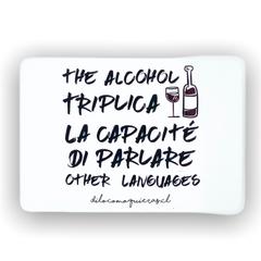 THE ALCOHOL TRIPLICA LA CAPACITE DI PARLARE OTHER LENGUAJES