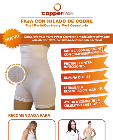 Fajas antimicrobianas Copperme
