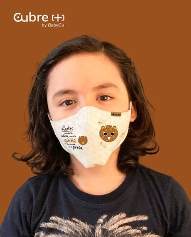 Pack [+ kids] Mascarilla Reutilizable Niños BabyCu Animales Ilustrados (pack 5 unidades)