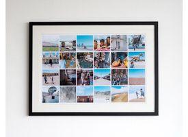 Marco + Paspartú + Collage 40x60 Lacado Negro