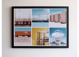 Marco + Collage 30x45 Lacado Negro