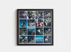 Marco + Collage 30x30 Lacado Negro