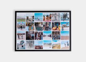Marco + Collage 40x60 Lacado Negro
