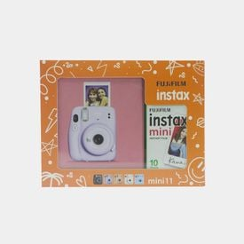 Kit Instax Mini 11 Lilac Purple + Carga 10 fotos