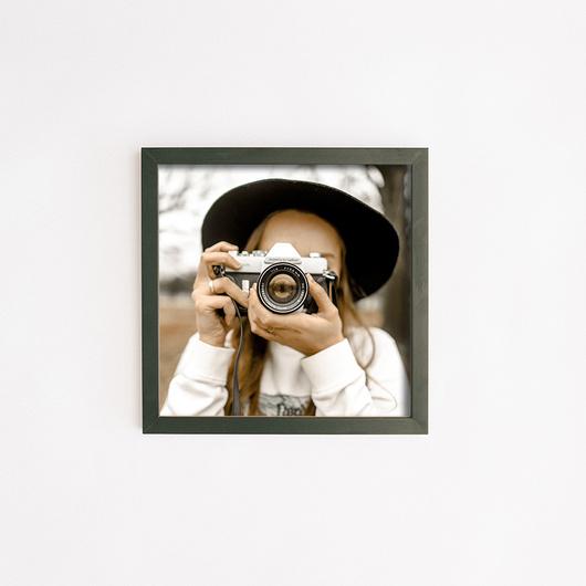 2x Marco + Foto 30x30 Lacado Negro