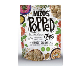 Snack Popped-Tomate-Albahaca y aceite de oliva- 98 grs