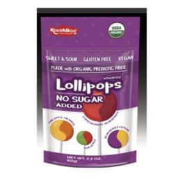 Pack 10 Lollipops orgánico-sin azúcar-62 grs