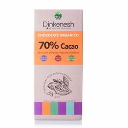 CHOCOLATE 70% ORGANICO DINKENESH- 100 grs