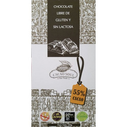 Chocolate 55% cacao Sin gluten organico-100 grs- CACAO SOUL