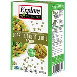 Pasta penne lentejas verde - 227 grs