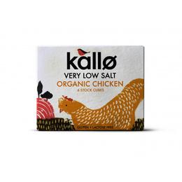 Caldo en Cubo Pollo bajo en sodio Orgánico (6unid) Kallo