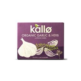 Caldo en Cubo Ajo y Hierbas Orgánico (6unid) Kallo