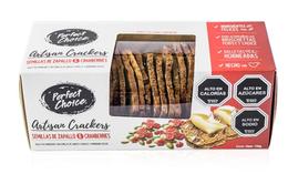 Crackers Artesanales de semillas zapallo y granberries