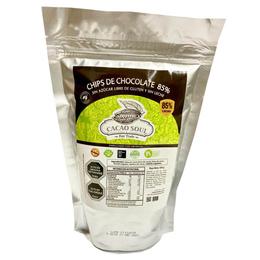 Chips de Chocolate sin azucar libre de gluten 85%