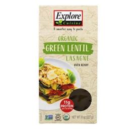 Lasagna organica de lenteja verde 227 grs