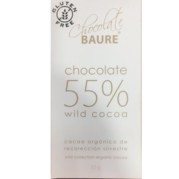 Chocolate en barra 55% cacao 70 grs