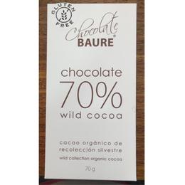 Chocolate en barra 70% Cacao  70 grs