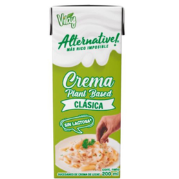 Crema Vegetal sin lactosa 200cc Vilay