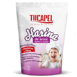 Harina de Arroz Lupino y Linaza Tucapel 500 grs