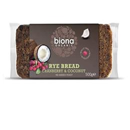 Pan de cranberry y coco marca biona