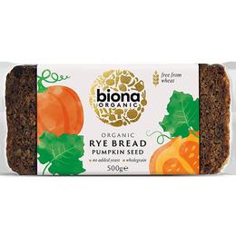 Pan rye y pumpkin seed bread organic 500 grs Marca Biona