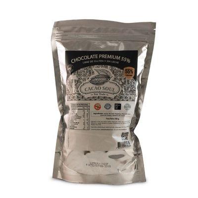 Monedas de Chocolate -55% cacao-Sin gluten-500 grs-CACAO SOUL