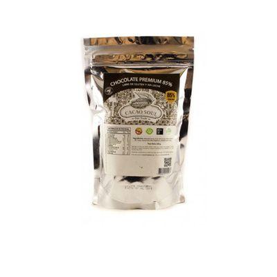 Moneda de chocolate 85%-sin gluten-500 grs-CACAO SOUL