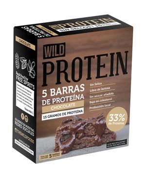 Barras de Proteina Chocolate. Caja de 5 un. de 45 gr. c/u