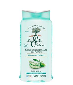 Shampoo para cabello normal a graso de Aloe Vera y Te Verde. 250 ml.
