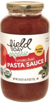 Salsa Organica de Tomates y Albahaca. 737 gr. Libre de Gluten