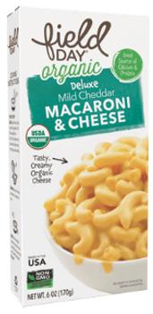 Macarrones orgánicos con queso cheddar 170 gr.