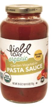Salsa Organica de Tomates y Vegetales. 737 gr. Libre de Gluten