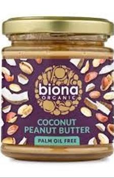 Mantequilla de coco y maní libre de aceite de palma 170 grs.