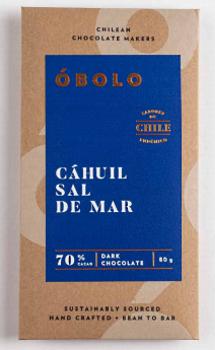 Barra Chocolate 70% Cahuil Sal de Mar 80 grs