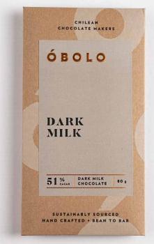 Barra Chocolate Dark Milk 51% Cacao 80 grs.