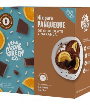 Premezcla para panqueque de chocolate y naranja. 200 gr.