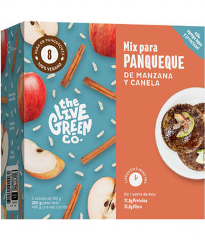 Premezcla para Green pancake manzana y canela. 200 gr.
