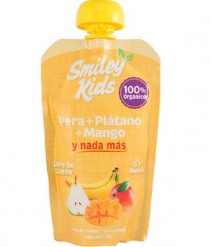 Compota de Pera, Plátano y Mango. 113 gr.