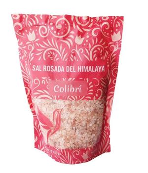 Sal rosada del himalaya grano grueso. 450 gr.
